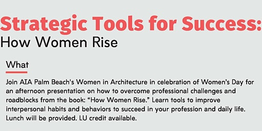 AIA Palm Beach Women in Architecture  - Strategic Tools for Success