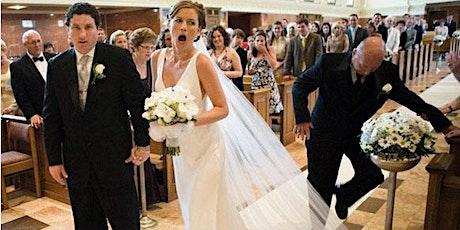 Tick Tock It's Wedding O'Clock - wedding rehearsal evening tickets
