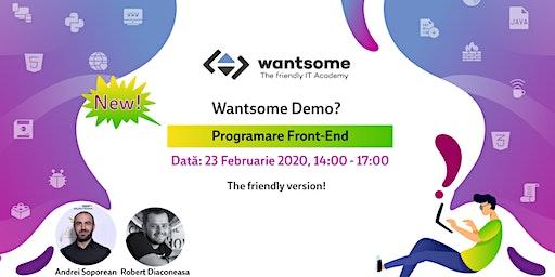 București, Wantsome Programare Front-End? The friendly version