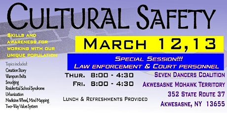 Cultural Safety March 2020 tickets