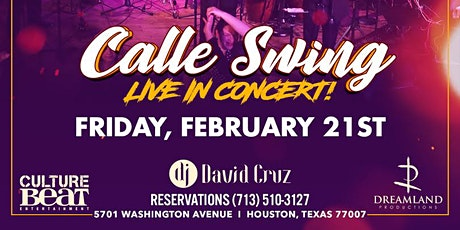 Latin Fridays at Axis and Alibi presents: CALLE SWING Live! (2.21.20) tickets