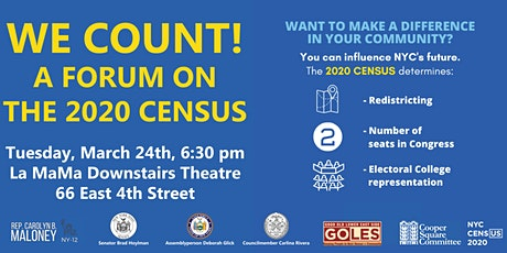 A Forum on the 2020 Census tickets