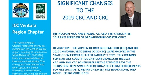 SIGNIFICANT CHANGES  TO THE  2019 CBC AND CRC