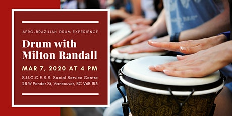 Drum with Milton Randall - Afro-Brazilian Drum Experience tickets