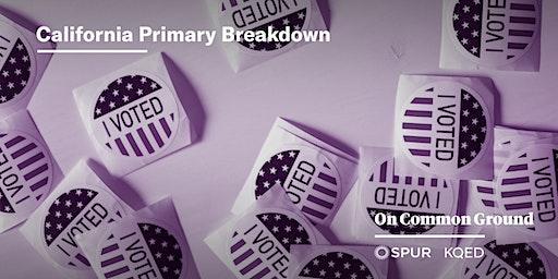 California Primary Breakdown