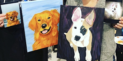 Paint your Pet Portrait class at Chateau Bianca in Dallas OR