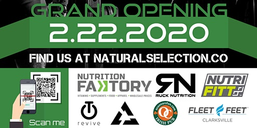 Natural Selection Training Facility  GRAND OPENING EVENT