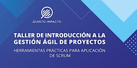 Taller de Introducción a la Gestión Ágil de Proyectos. entradas