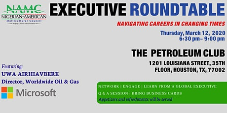 NAMC Executive Round Table - Navigating Careers in Changing Times tickets