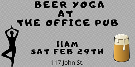 Office Pub Beer Yoga tickets