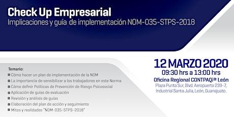 Implicaciones y guía de implementación NOM-035-STPS-2018 entradas