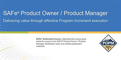SAFe® 5.0 Product Owner/Product Manager Certification Training in Toronto tickets
