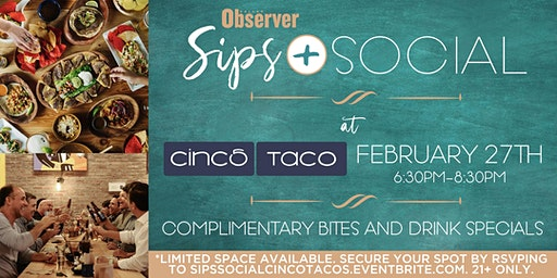 Sips & Social at Cinco Taco