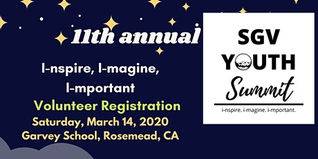 SGV Youth Summit Volunteer tickets