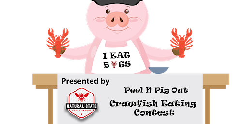 Peel N Pig Out Eating Contest Sponsored By Natural State Pest Control