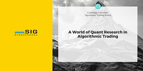 CUATS Event: A World of Quant Research in Algorithmic Trading, PhD focused tickets