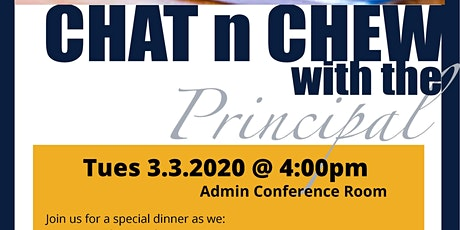 Principal's Chat & Chew tickets