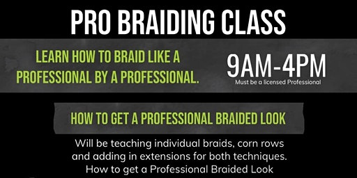 Le Beautique professional braiding class