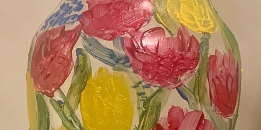 Paint a Spring Glass Vase at Moody's Bar & Grill, Millbrook, ON