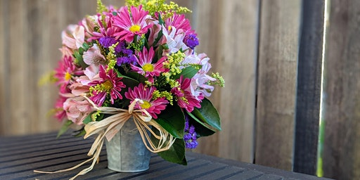 Learn to make a Spring Flower Bouquet at Out of Bounds Brewery!