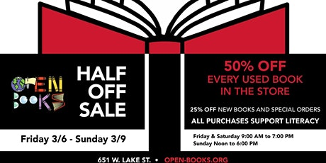 Half Off Books Sale at Open Books West Loop tickets