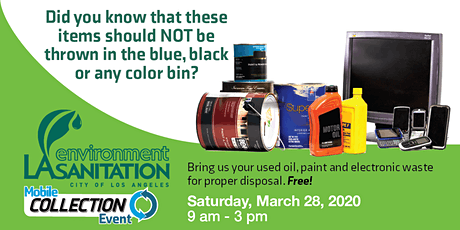 03-28-20 - Used Oil, Paint, and E-waste Collections at Branford Recreation Center tickets