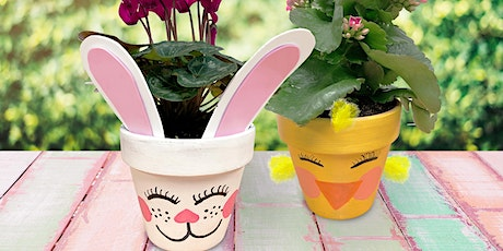 Easter Workshop for Kids -  Painted Flower Pot: Frankfort, IL tickets