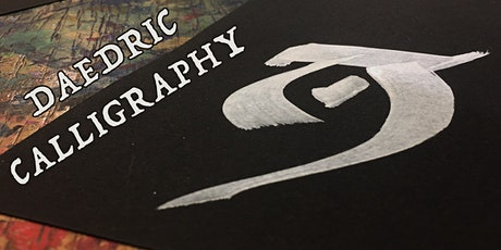 Fantasy Calligraphy: confuse, amuse & amaze with Skyrim's Daedric alphabet tickets