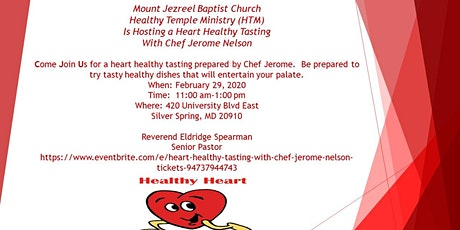 Heart Healthy Tasting with Chef Jerome Nelson tickets