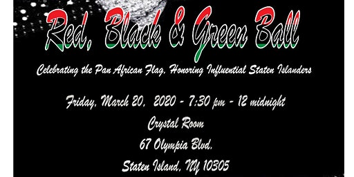 3rd Annual Red, Black And Green Ball