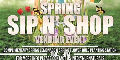Spring Sip & Shop Vending Event