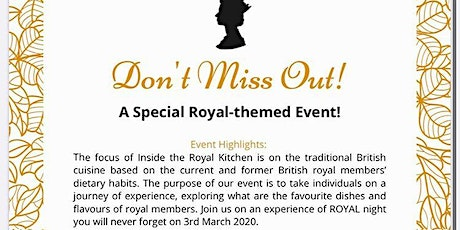 Inside The Royal Kitchen tickets