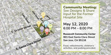 Community Meeting: See Designs & Share Input for the Former Hospital Site tickets