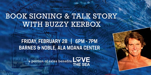 Book Signing & Talk Story with Surfer Buzzy Kerbox