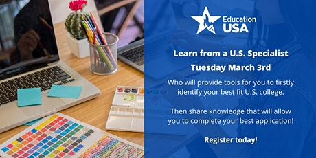 EducationUSA Program - U.S. Specialist in Adelaide - Learn in depth on how you can apply to U.S. colleges  tickets