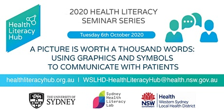 2020 Health Literacy Seminar 4: A picture is worth a thousand words: Using graphics and symbols to communicate with patients tickets