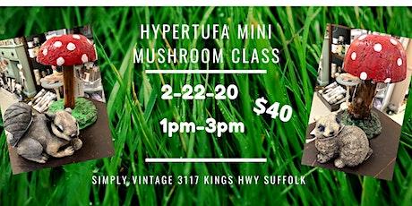 Hypertufa Mini Mushroom Class with Stone Rabbit or Squirrel Companion tickets