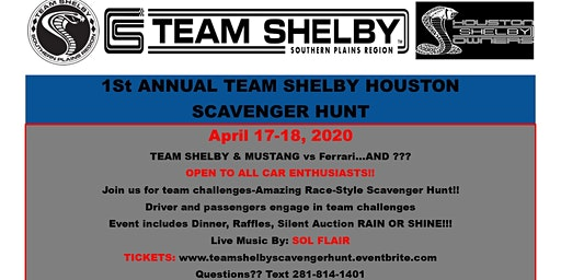 1st Annual Team Shelby Houston Scavenger Hunt
