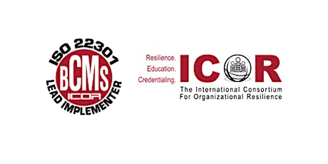 ICOR Implementing AS ISO 22301 Training Course & Certification Exam - Perth 2020 tickets