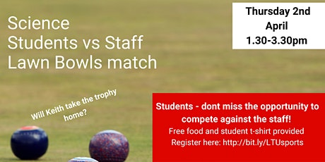 Science Students v's Staff Lawn Bowls Competition tickets