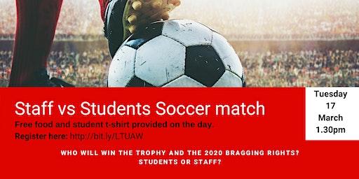 Students v's Staff Soccer Match