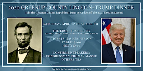 2020 Greenup County Lincoln-Trump Dinner tickets