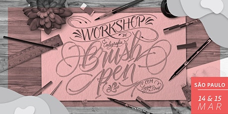Workshop de Brush Pen em SP - Dias 14 & 15/03 ingressos