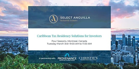 Caribbean Tax Residency Solutions for Investors - Montreal tickets