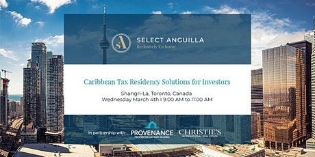 Caribbean Tax Residency Solutions for Investors - Toronto tickets