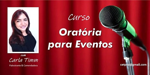 Curso de Oratória para Eventos - SEGUNDA