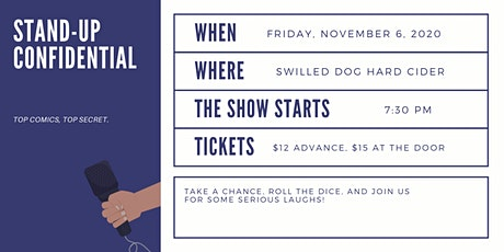 Stand-Up Confidential at Swilled Dog Hard Cider tickets