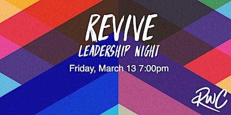 Revive: Leadership Night tickets