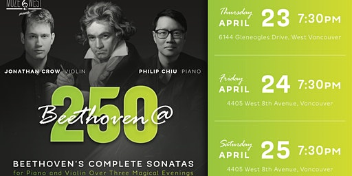 BEETHOVEN 250 Festival (Night 1 - West Vancouver)