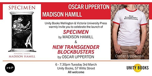 Double Book Launch | Madison Hamill & Oscar Upperton